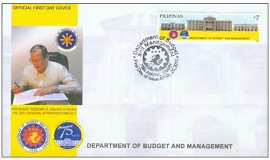 dbm logo. Philippines Stamps DBM